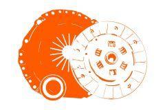 Kupplungssatz Kubota Bulltra B1-16, B1-17, Aste, A15, A155, A17, A175,  A19, A195, B-Serie