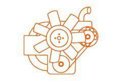 Iseki E4CG Motor, Iseki AT, SF450, TG, TK, TLE, HF, HFG, Massey Ferguson 1547, 1643, 1648, Mitsubishi GA, GAK