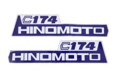 Aufklebersatz Motorhaube Hinomoto C174