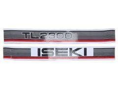 Iseki Aufklebersatz Motorhaube TL2300