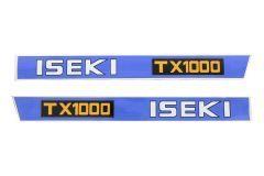 Aufklebersatz Motorhaube Iseki TX1000