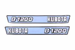 Aufklebersatz Motorhaube Kubota B1200