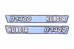 Aufklebersatz Motorhaube Kubota B1400