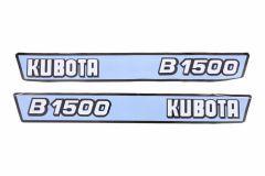 Aufklebersatz Motorhaube Kubota B1500