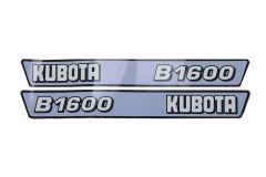 Aufklebersatz Motorhaube Kubota B1600