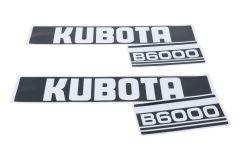 Aufklebersatz Motorhaube Kubota B6000