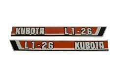 Aufklebersatz Motorhaube L1-26