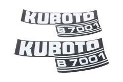 Aufklebersatz Motorhaube Kubota B7001