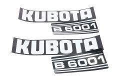 Aufklebersatz Motorhaube Kubota B6001