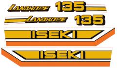 Aufklebersatz Motorhaube Iseki Landhope TU135