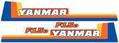 Aufklebersatz Motorhaube Yanmar F15
