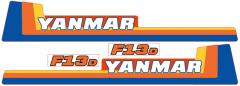 Aufklebersatz Motorhaube Yanmar F13