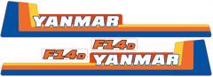 Aufklebersatz Motorhaube Yanmar F14