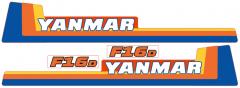 Aufklebersatz Motorhaube Yanmar F16