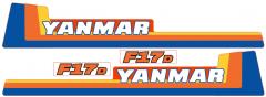 Aufklebersatz Motorhaube Yanmar F17