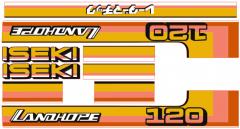 Aufklebersatz Motorhaube Iseki Landhope TU120