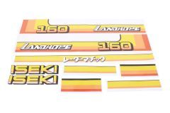 Aufklebersatz Motorhaube Iseki Landhope TU160