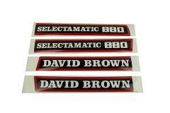 Aufklebersatz Motorhaube David Brown 880 Selectamatic