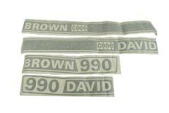 Schild Typ David Brown 990